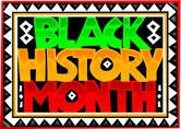 Image with words black history month